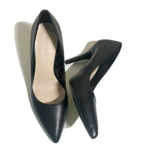 Nine West Black Flagship Court Pointed Pumps Heels